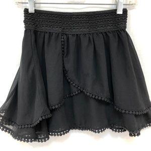 American Rag Cie black mini skirt Sz S layered